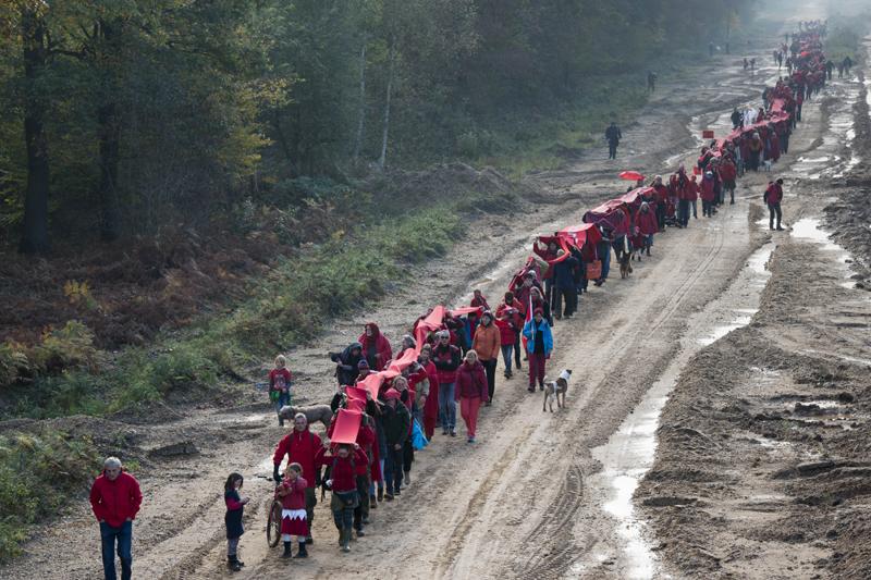"""Rote Linie """"Alte A4"""". Foto: Hubert Perschke"""
