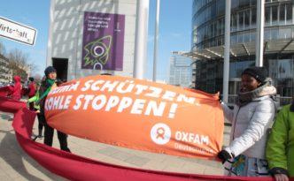 Die Klimazeugen fordern ein Stopp der Braunkohleverstromung. Foto: Yavuz Arslan /eyedoit.com /Oxfam